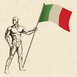 The Flag Of Italy Stock Photo