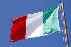 Flag of Italy. On sky fon Royalty Free Stock Photos