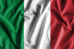 Flag of Italy. Waving flag of Italy - color Stock Photo