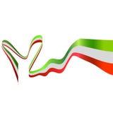 Flag of italy. White background with italian flag Royalty Free Stock Image