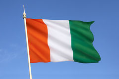 Flag of Ivory Coast - West Africa Stock Image