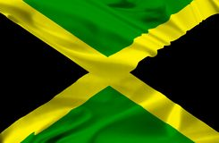 Flag of Jamaica Royalty Free Stock Photography