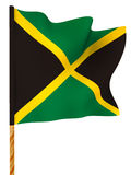 Flag. Jamaica. 3d Royalty Free Stock Photos