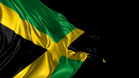 Flag of Jamaica. Beautiful 3d animation of Jamaica with alpha channel stock illustration