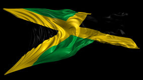 Flag of Jamaica. Beautiful 3d animation of Jamaica with alpha channel in 4k resolution vector illustration