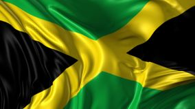 Flag of Jamaica. Beautiful 3d animation of Jamaica in loop mode royalty free illustration