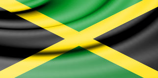 Flag of Jamaica. Royalty Free Stock Photography