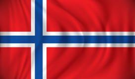 Flag of Jan Mayen. Vector illustration vector illustration