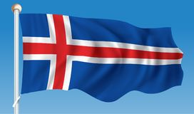 Flag of Jan Mayen. Vector illustration stock illustration