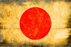 Flag of Japan. Grunge background edit Royalty Free Stock Photos