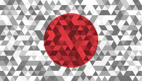 Flag of Japan. Celled stylization japanese national flag. Vector illustration. Flag of Japan. Celled stylization japanese national banner. Vector illustration Stock Images