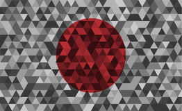 Flag of Japan. Celled stylization japanese national flag. Vector illustration. Flag of Japan. Celled stylization japanese national banner. Vector illustration Royalty Free Stock Images