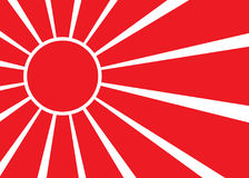 Flag of Japan. Celled stylization japanese national flag. Vector illustration. Flag of Japan with red rays. Stylization of japanese national banner. Vector Royalty Free Stock Photography