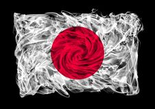 Smoky flag of Japan Stock Photography