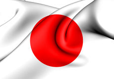 Flag of Japan. 3d Rendered Flag of Japan Royalty Free Stock Photos