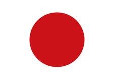 Flag of Japan  illustration. Stock Images