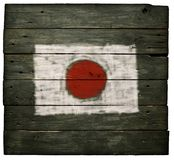 Flag of japan on wood Royalty Free Stock Photos