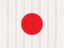 Flag of Japan. Painted on a wooden wall Royalty Free Stock Photo