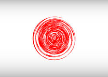 Flag of Japan with red rays. Stylization of japanese national banner. Vector illustration Stock Photo