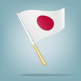 Flag of Japan, Vector illustration Royalty Free Stock Images