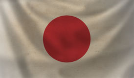Flag of Japan. Vintage background with flag of Japan. Grunge style Stock Photography