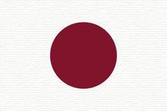 Flag of Japan Wall Stock Photography