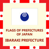 Flag of Japanese prefecture Ibaraki. Official Flag of Japanese prefecture Ibaraki Stock Image