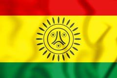 Flag of Jatibonicu Taino Tribal Nation of Boriken, Puerto Rico. Royalty Free Stock Images