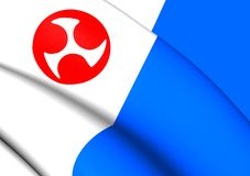 Flag of Jeju Province, South Korea. royalty free illustration
