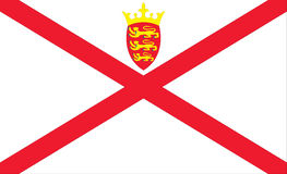 Flag of Jersey Stock Images