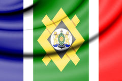 Flag of Johannesburg, South Africa. Royalty Free Stock Photo