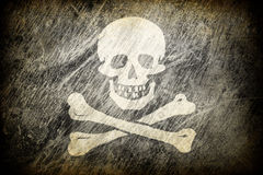 Flag of Jolly Roger. Grunge rubbed flag of Jolly Roger Stock Photos