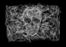Jolly Roger flag of smoke Stock Photos
