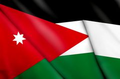Flag of Jordan. This is an illustration of folded flag Royalty Free Stock Image