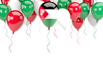 Flag of jordan on balloons Stock Photography
