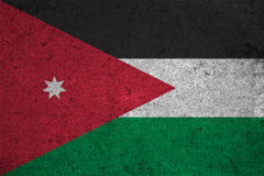 Flag. Jordan flag on an old grunge background Royalty Free Stock Photography