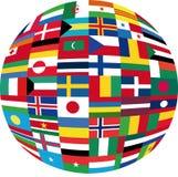 flag jordklotet Arkivbilder