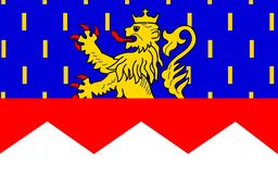 Flag of Jura, France. Flag of Jura is a department in the east of France named after the Jura mountains stock images