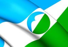 Flag of Kabardino-Balkar Republic, Russia. Royalty Free Stock Images
