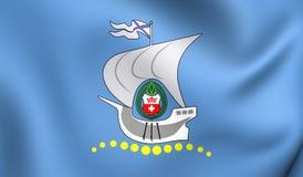 Flag of Kaliningrad, Russia. Royalty Free Stock Photos