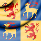 Flag of Kalmar, Sweden. Stock Photos
