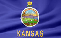 Flag of Kansas stock illustration