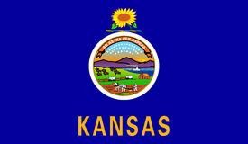 Flag of Kansas Royalty Free Stock Photography