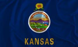 Flag of Kansas Background, The Sunflower State royalty free illustration
