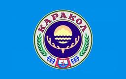 Flag of Karako, Kyrgyzstan royalty free illustration
