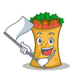 With flag kebab wrap character cartoon. Vector illustration vector illustration