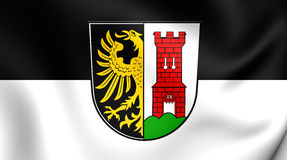 Flag of the Kempten, Germany. Stock Photography