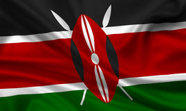 Flag of kenia Stock Photo