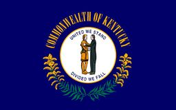Flag of Kentucky, USA. Flag of Kentucky officially the Commonwealth of Kentucky, is a state located in the east south-central region of the United States stock photos