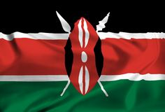 Flag of Kenya Royalty Free Stock Photos